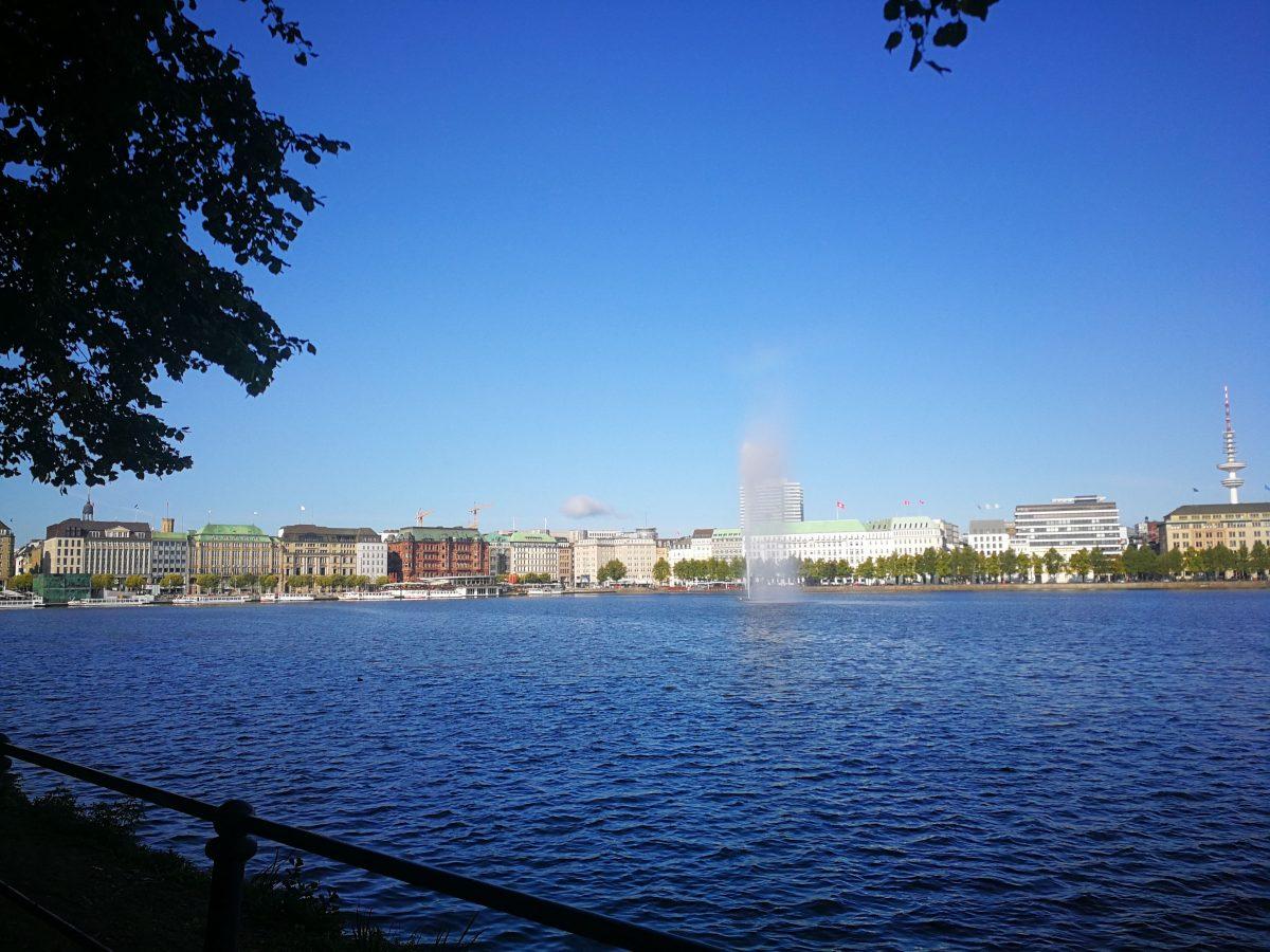 Binnenalster Inner Lake & Alsterfontäne Hamburg