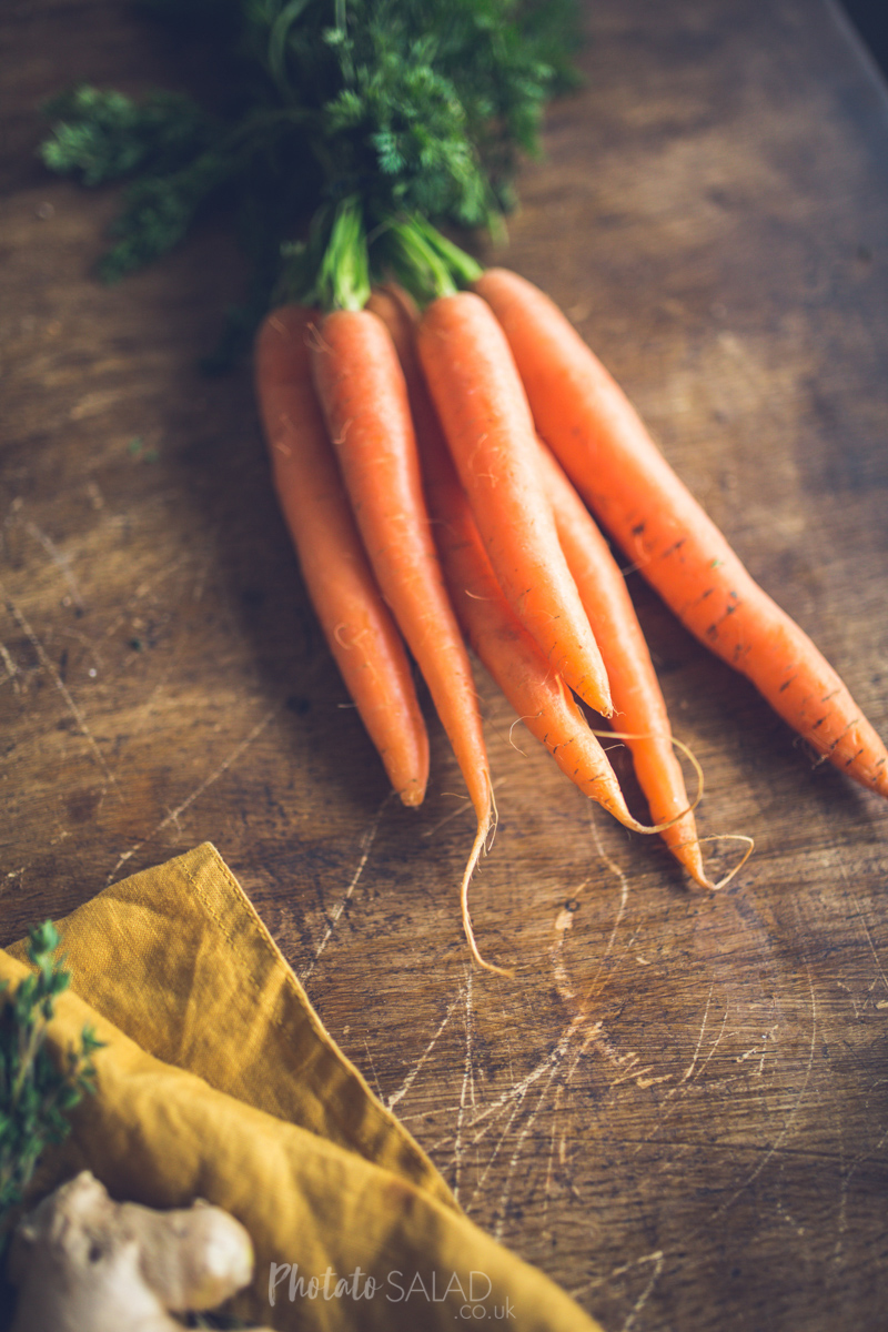 Rustic Bunched Carrots